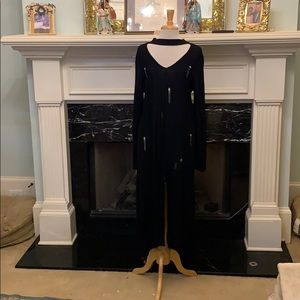 Darling distressed black sweater dress